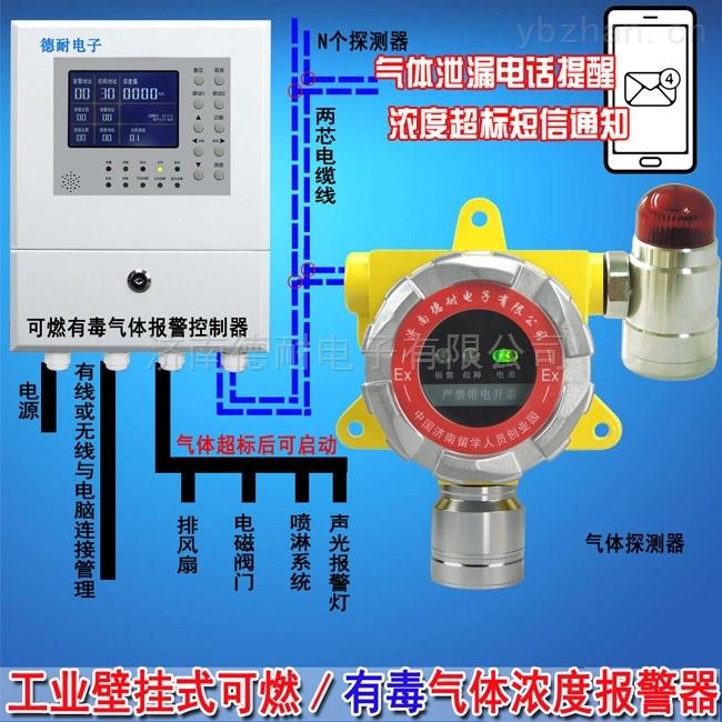 化工厂车间液化气气体报警器,可燃性气体报警器严禁带电安装接线