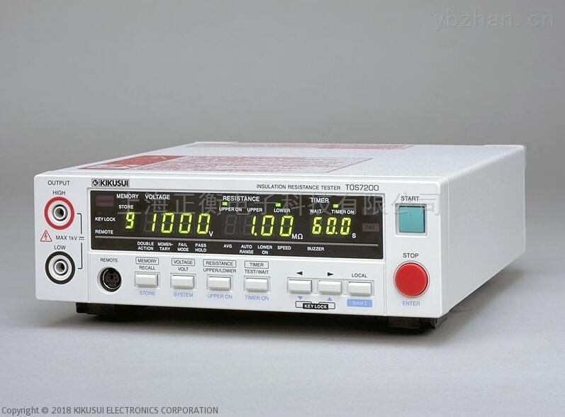 TOS7200绝缘电阻计