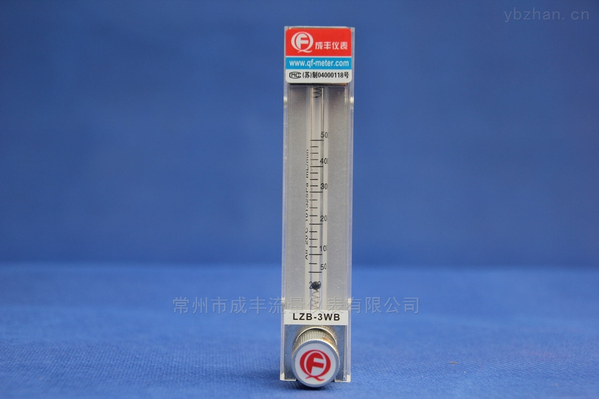测量较小流量带调节阀的玻璃转子流量计