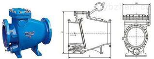 智能型鑄鋼法蘭微阻緩閉止回閥