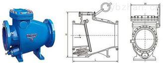 智能型铸钢法兰微阻缓闭止回阀