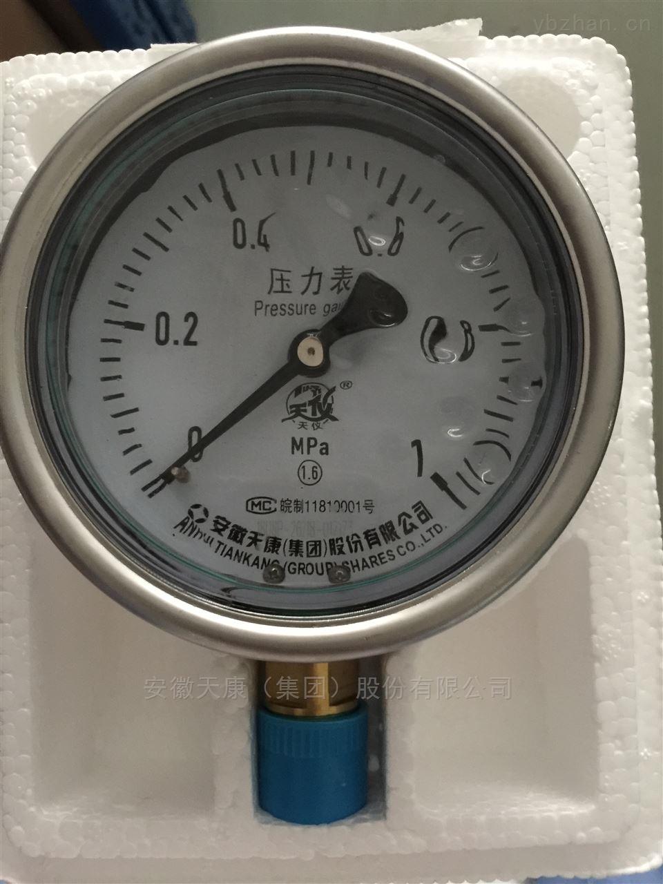 安徽天康耐震压力表