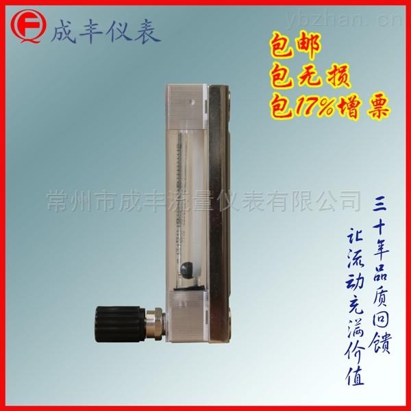 成丰仪表测液体流量计面板式DK800-10耐腐蚀玻璃转子流量计