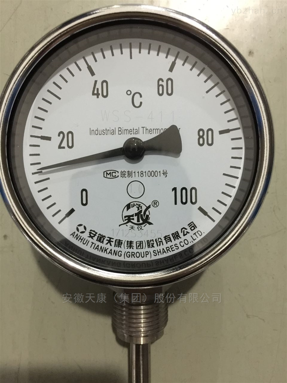 天康径向型双金属温度计