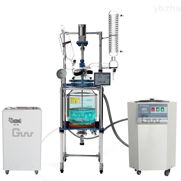 SY-10高温循环浴10L双层玻璃反应釜配套使用