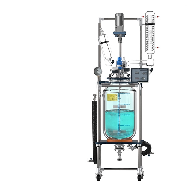 優質50L雙層玻璃反應釜廠家價格