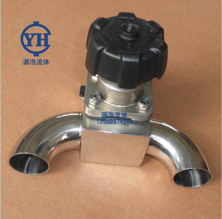 GWT-GMF0001-衛生級三通U型不銹鋼快裝隔膜閥