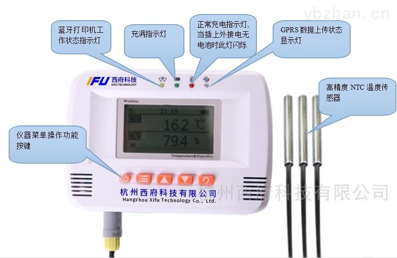 DLW20-E3T-WIFI无线三路冰箱温度监控记录仪云短信报警