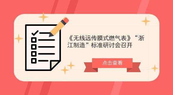 """《无线远传膜式燃气表》""""浙江制造""""标准研讨会召开"""