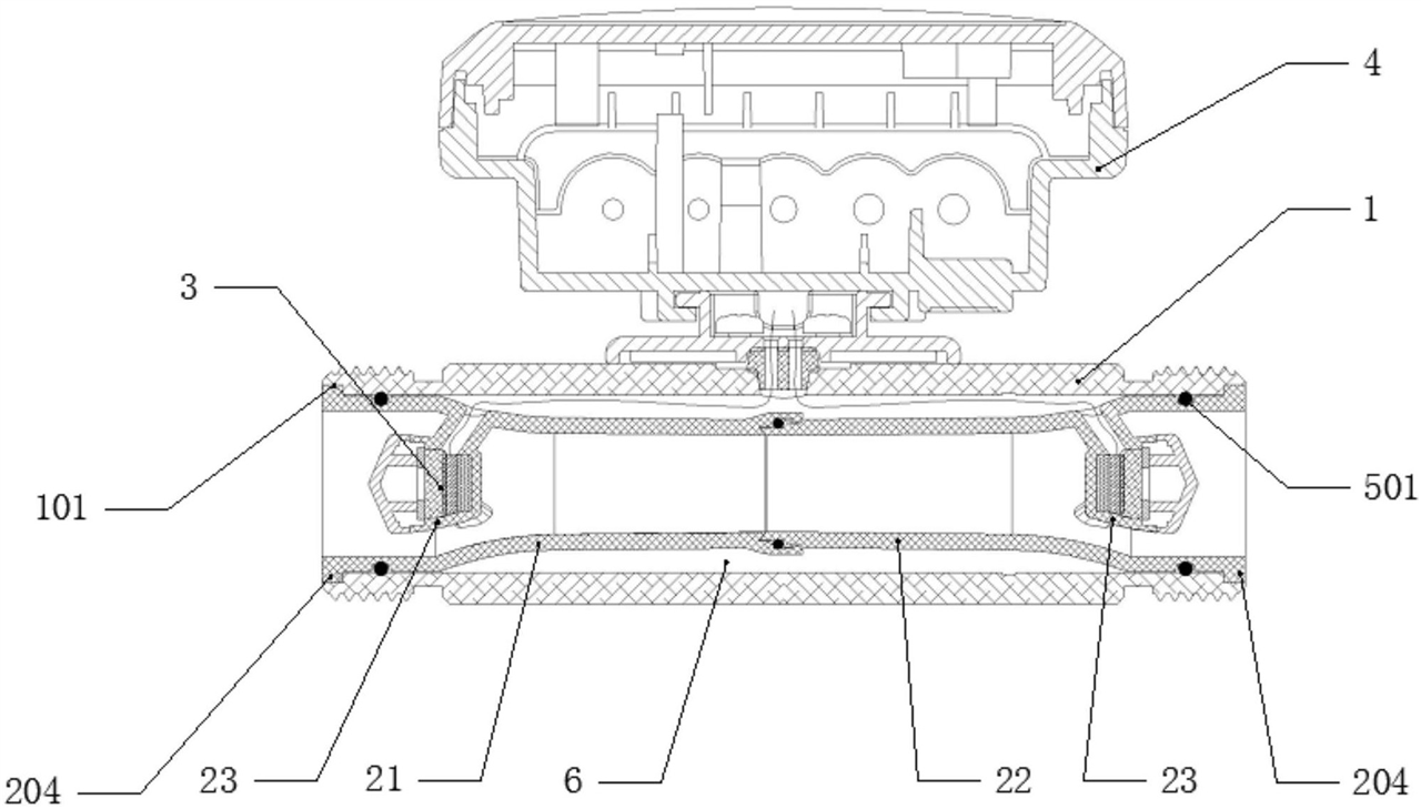 【北京赛车新专利】一种对射式小口径超声波流量计