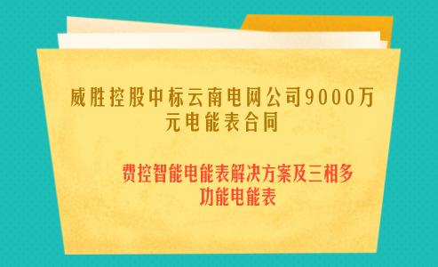 威胜控股中标云南电网公司9000万元电能表合同