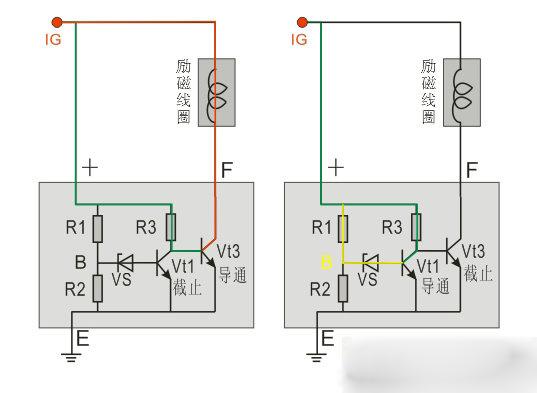 发电机电压调节器结构原理图