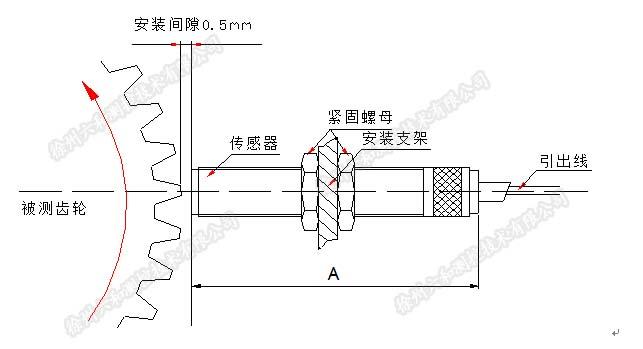 SZCB-03-B01磁阻转速传感器采用电磁感应原理来达到测速目的。输出信号大,抗干扰性能好,不需外接电源,可在烟雾油气水气恶劣环境中使用。 SZCB-03-B01磁阻转速传感器工作原理: SZCB-03-B01磁阻式转速传感器是高性价比、用途广泛的通用转速传感器,用于导磁性物体的转速测量,采用非接触式测量方式。传感器内部由磁钢、软磁衔铁和线圈组成。其基本测量原理是磁场(磁力线)由磁铁发出,通过衔铁和线圈,当有导磁物体靠近或远离时线圈中磁通量发生变化,线圈感应出电动势的变化,线圈内轴上测速齿轮),感应与转